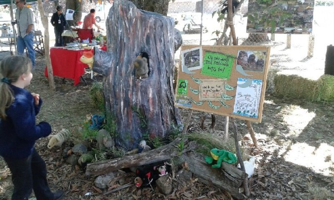 Puppet play with 'the stump' at the Macedon ranges Sustainability Festival