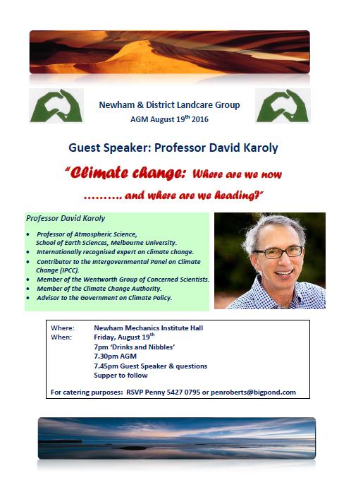 newham landcare agm 2016 talk
