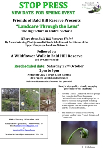 Microsoft Word - New date 22 Oct Landcare through the Lens and W