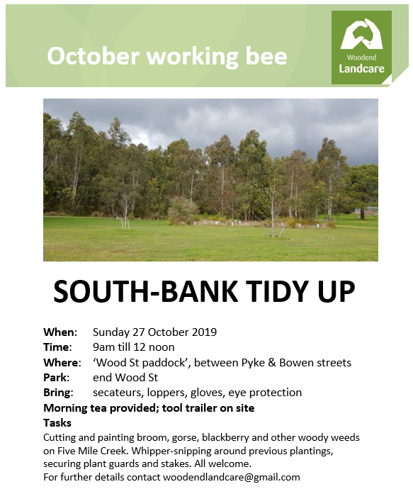 october working bee flyer