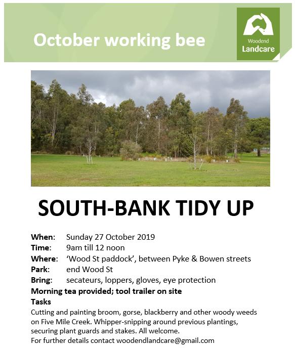 october working bee flyer